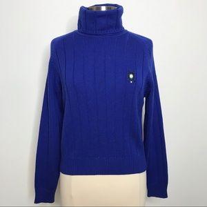 Escada Sport Turtleneck Sweater Cobalt Blue M